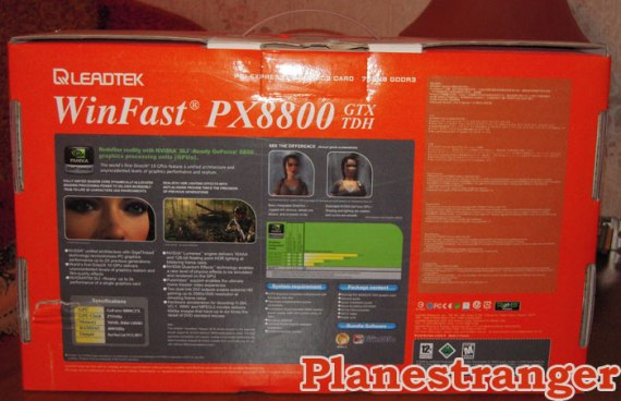winfast 8800 gtx box rear